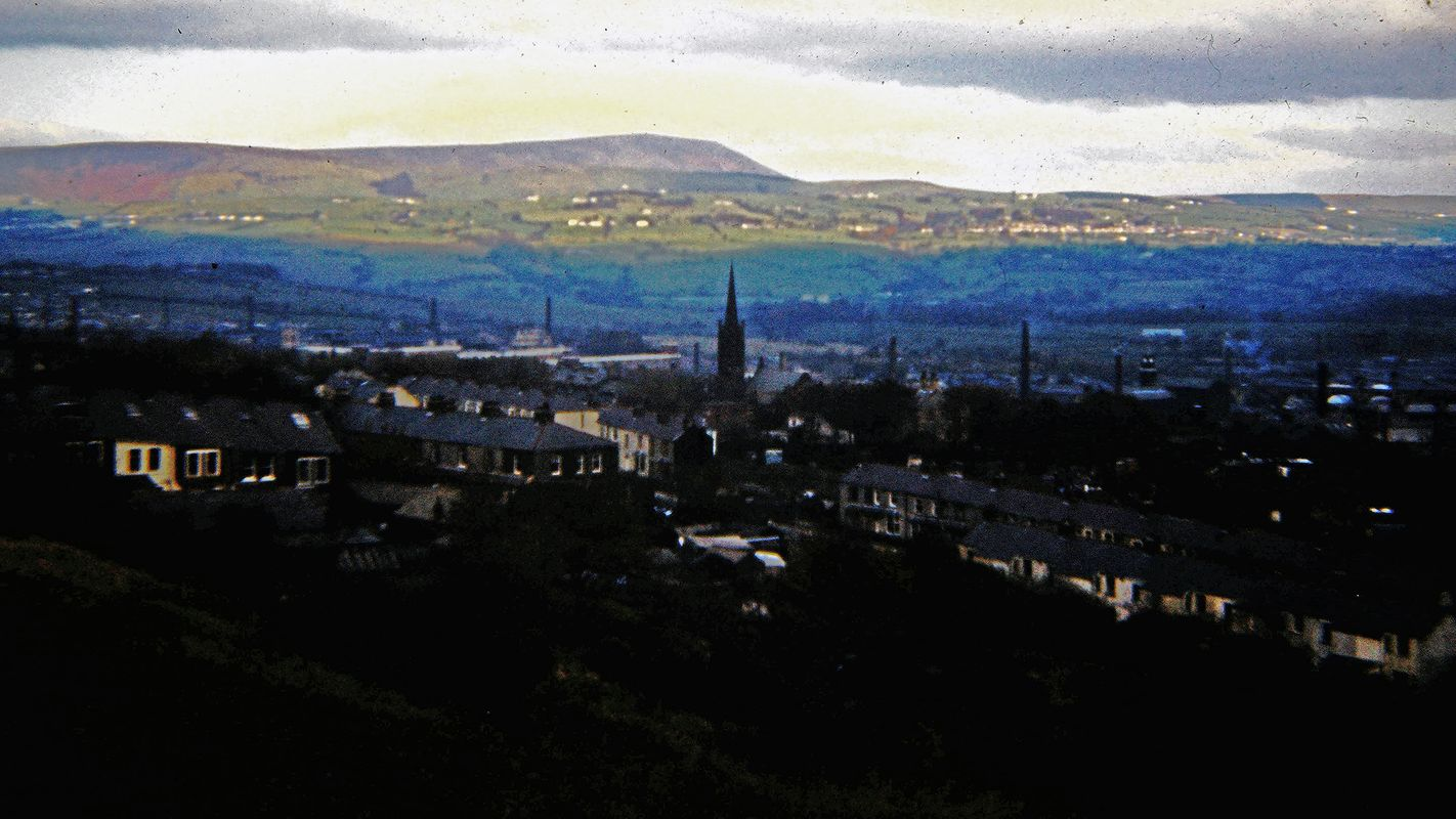 Vintage Picture - Overlooking Burnley, Lancashire 1974