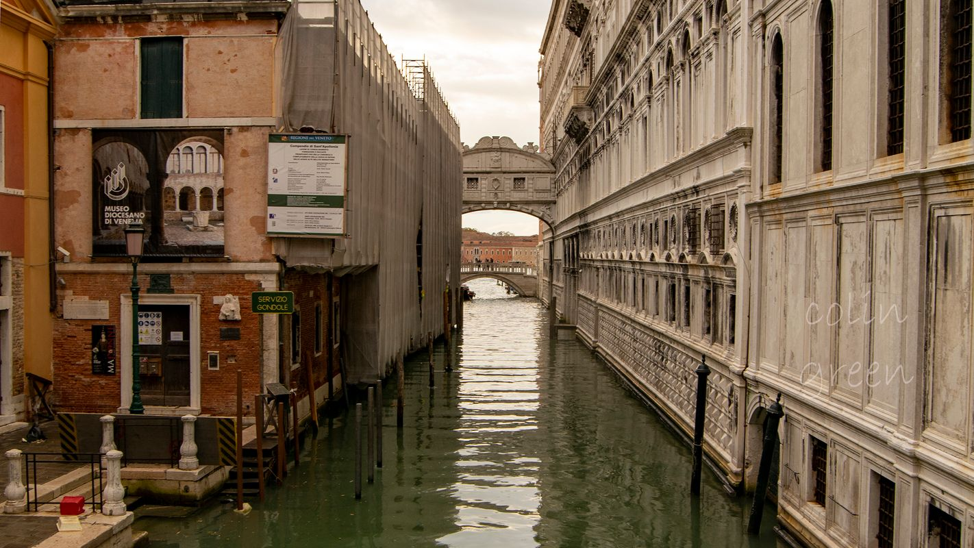 Cannaregio Canal to the Bridge of Sighs, Venice.