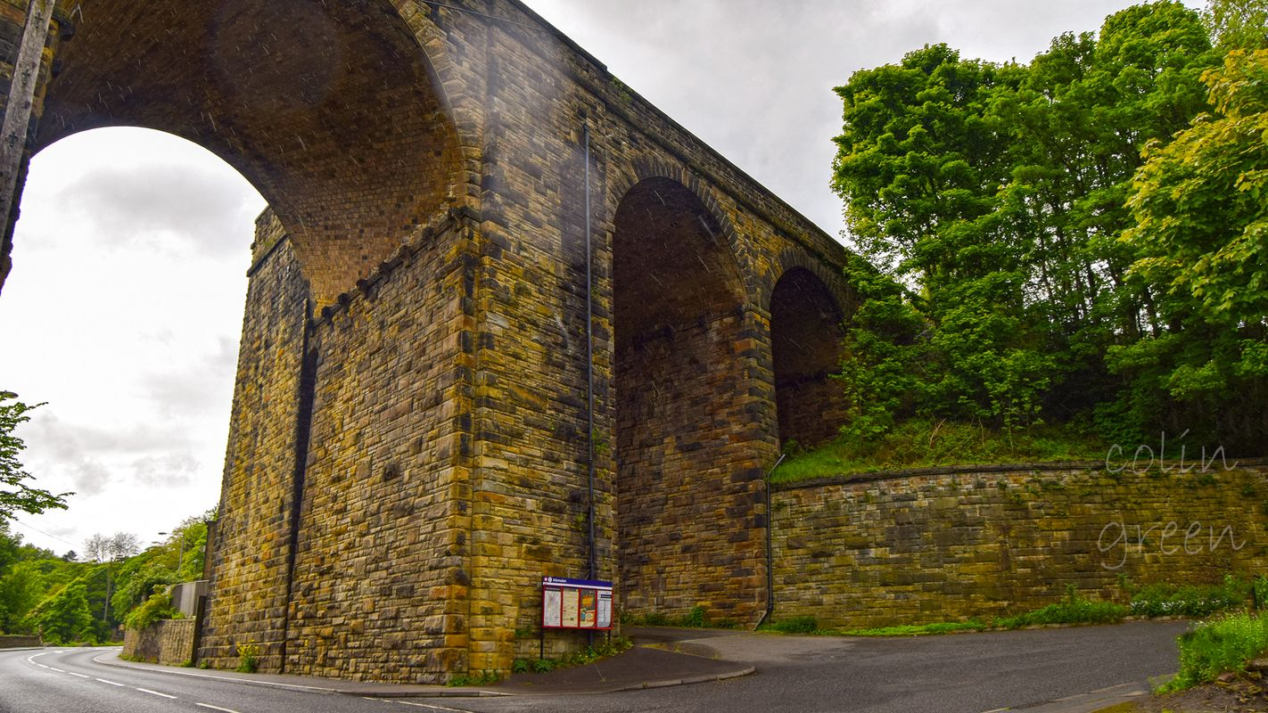 Denby Dale Station Entrance and Viaduct.