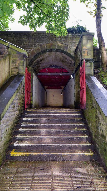 Denby Dale Station Entrance.