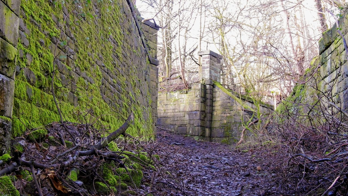 Former Path and Crossing on the Halifax High Level Railway.