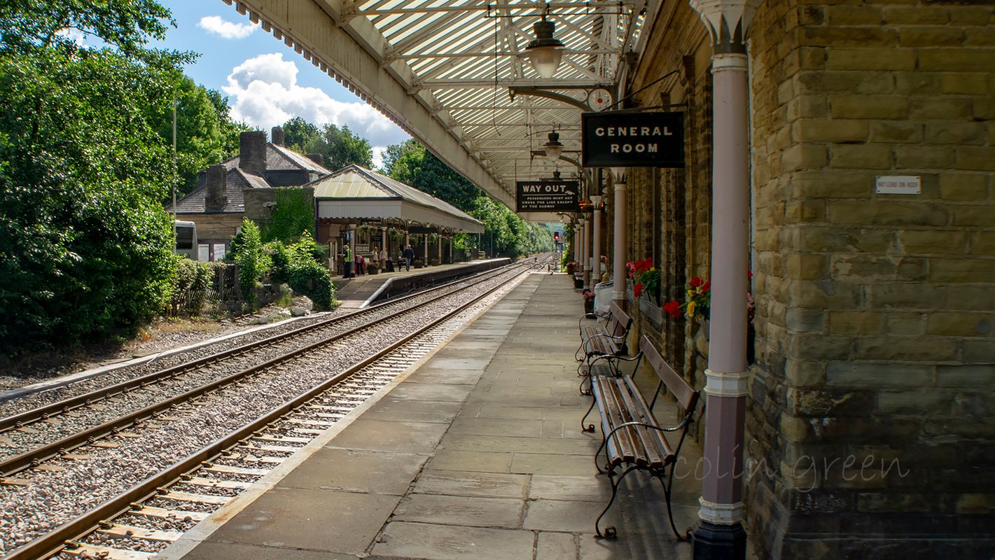 Hebden Bridge Railway Station.
