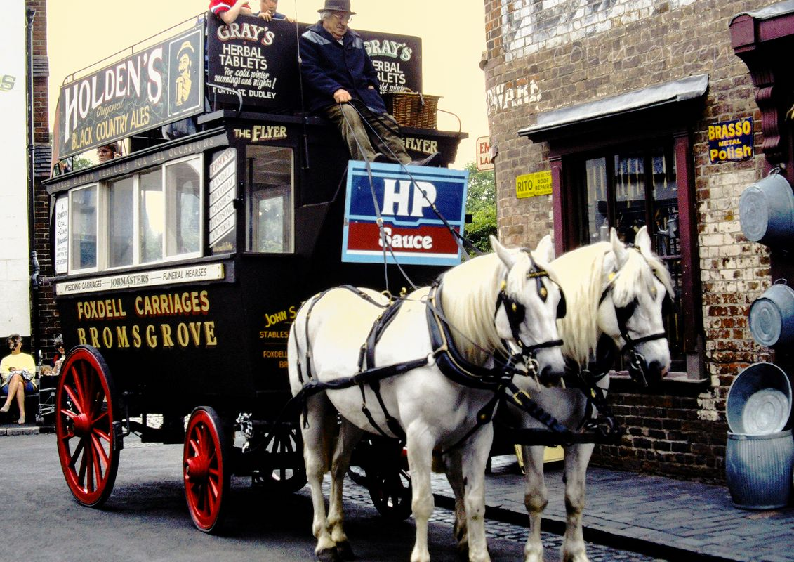 Horse Bus Black Country Museum June 1997