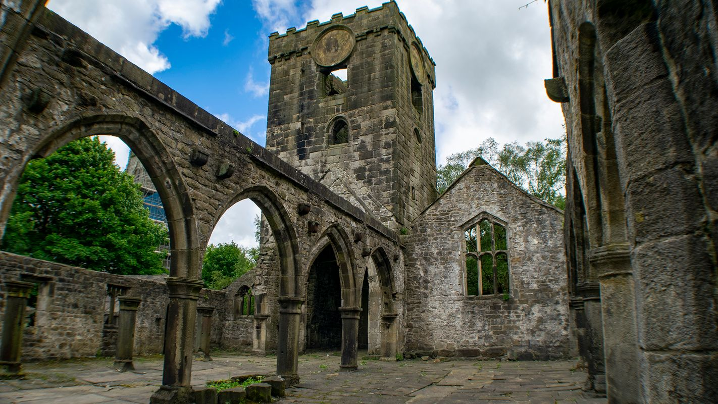 Inside the Ruins of the Church of St Thomas a Becket, Heptonstall