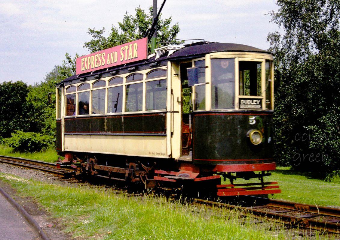 Single deck Tram Black Country Museum June 1997