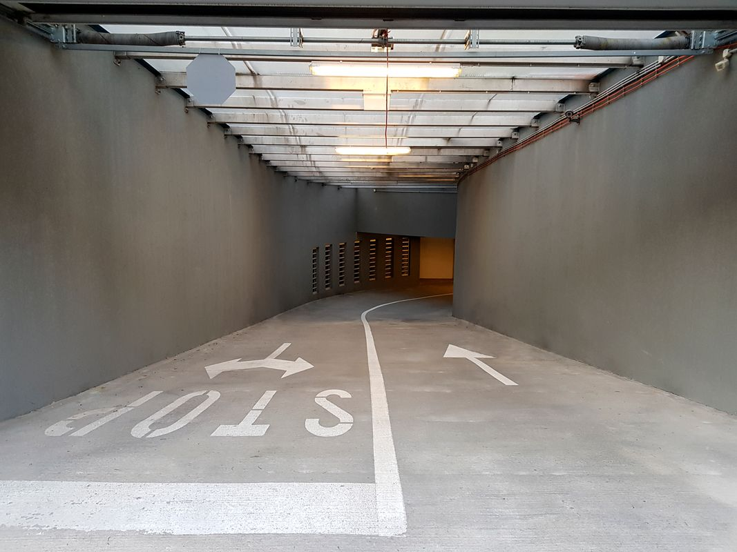 Entrence and exit of  the public underground garage