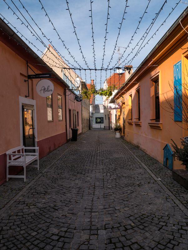 Street in the old part of Varazdin, Croatia