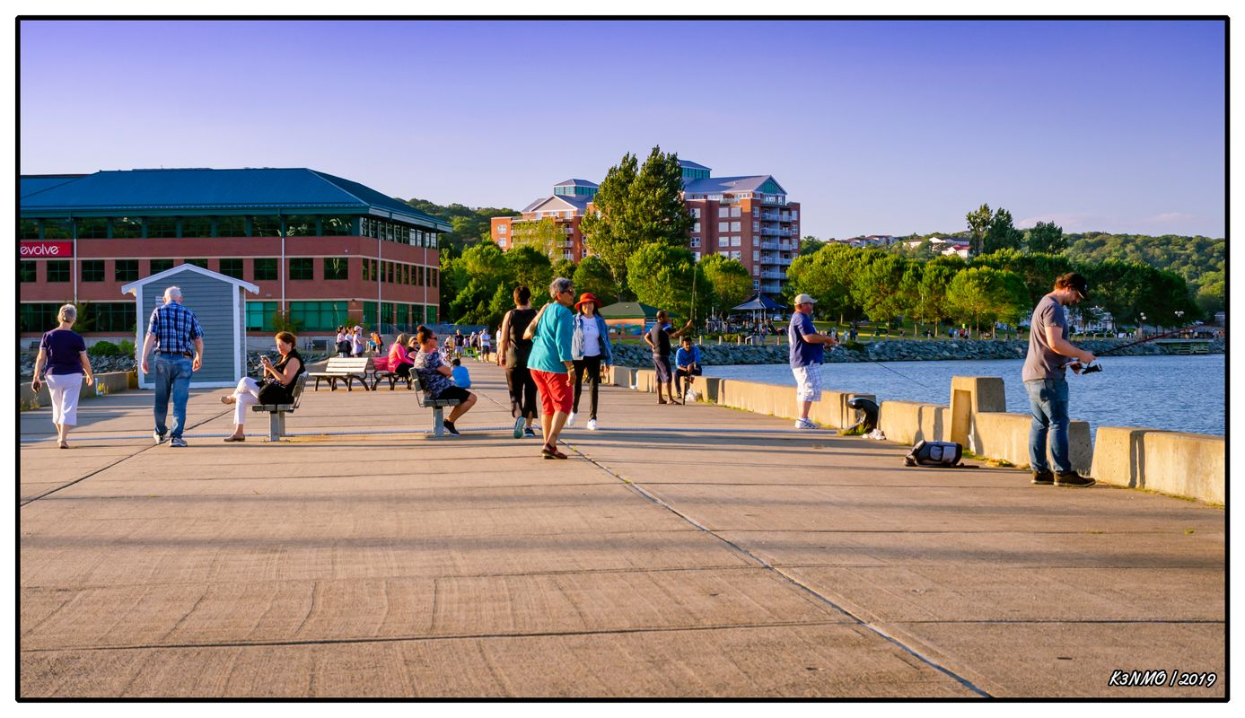 Fishing on Bedford Waterfront Wharf 02