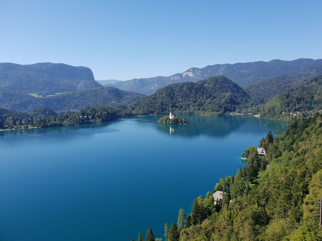 View of Slovenia from Bled Castle