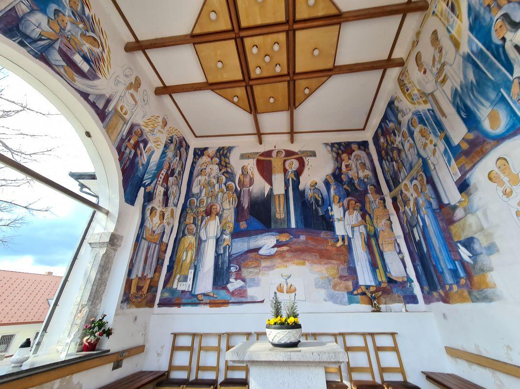 Fresco in nearby church