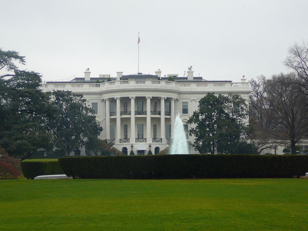 White house from the back
