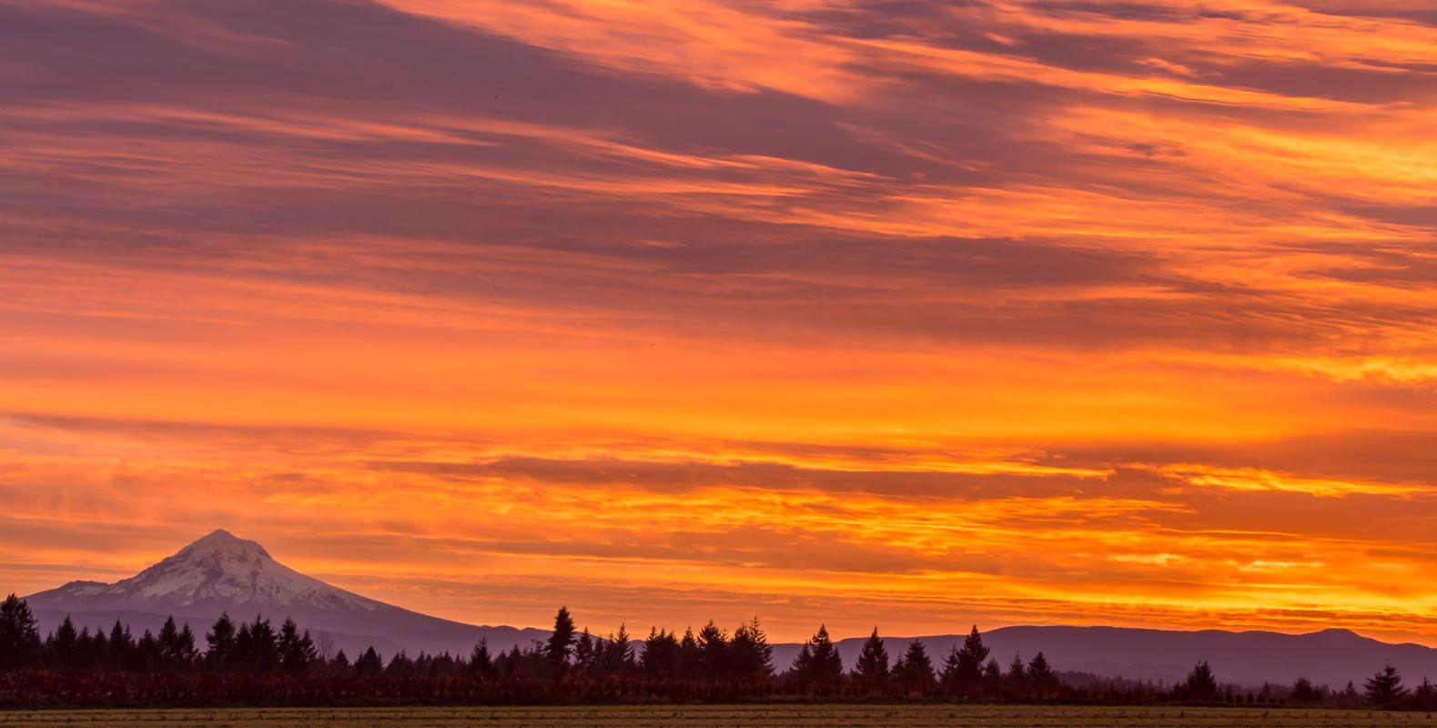 Mt Hood Oregon Sunrise