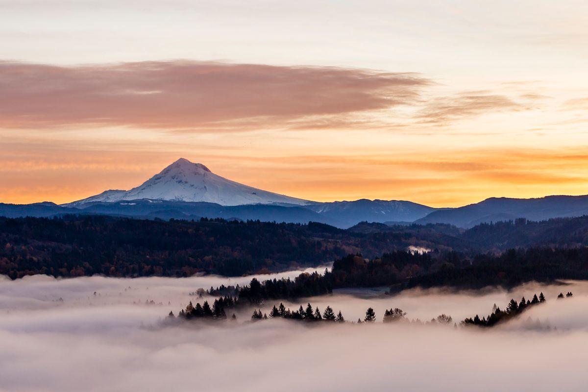 Sunrise and fog -