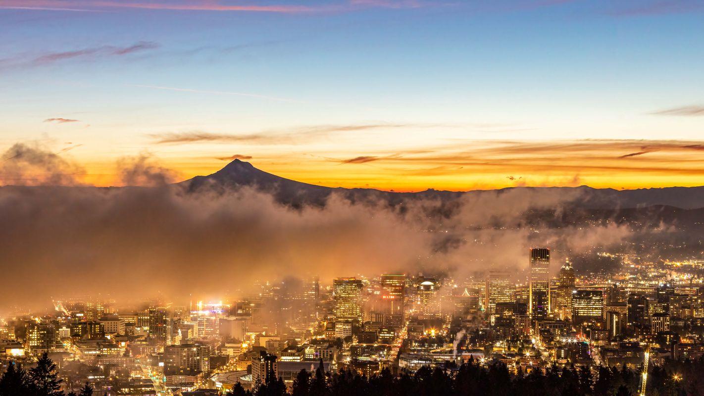 Foggy Sunrise from Portland Oregon
