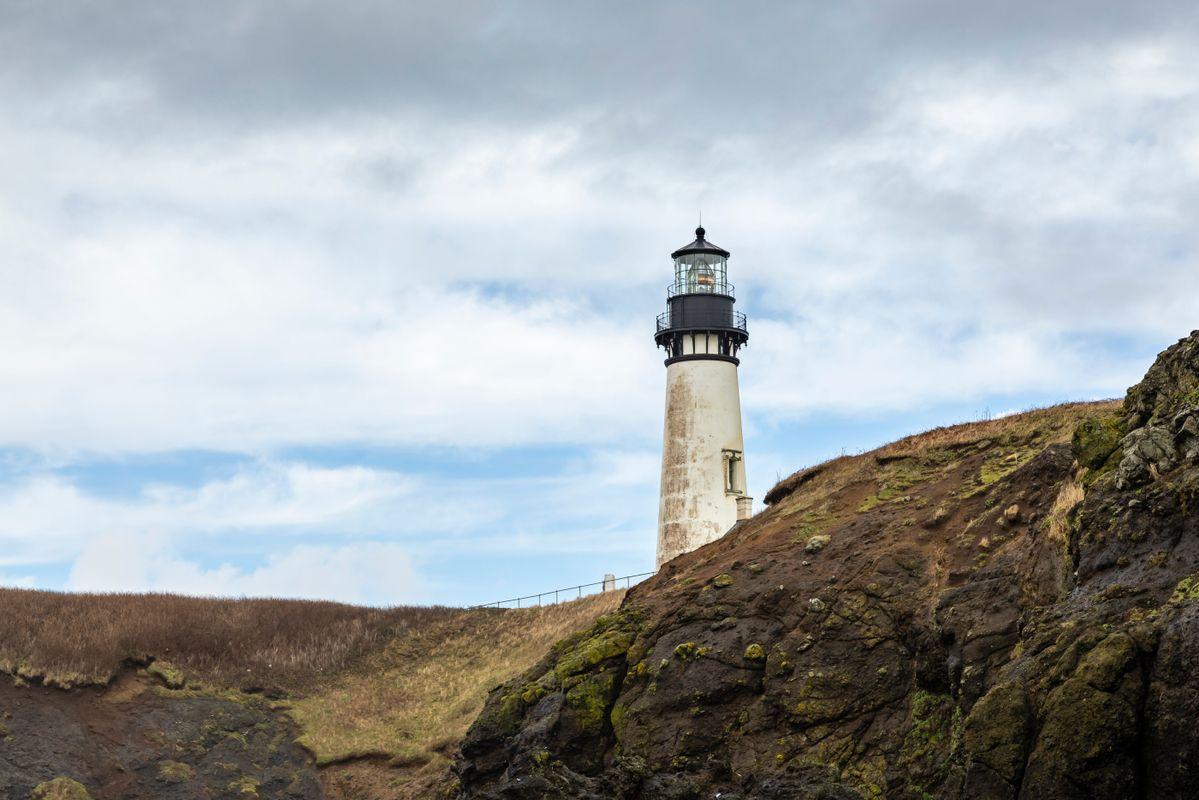 Yaquina Head Lighthouse - From Coble Beach