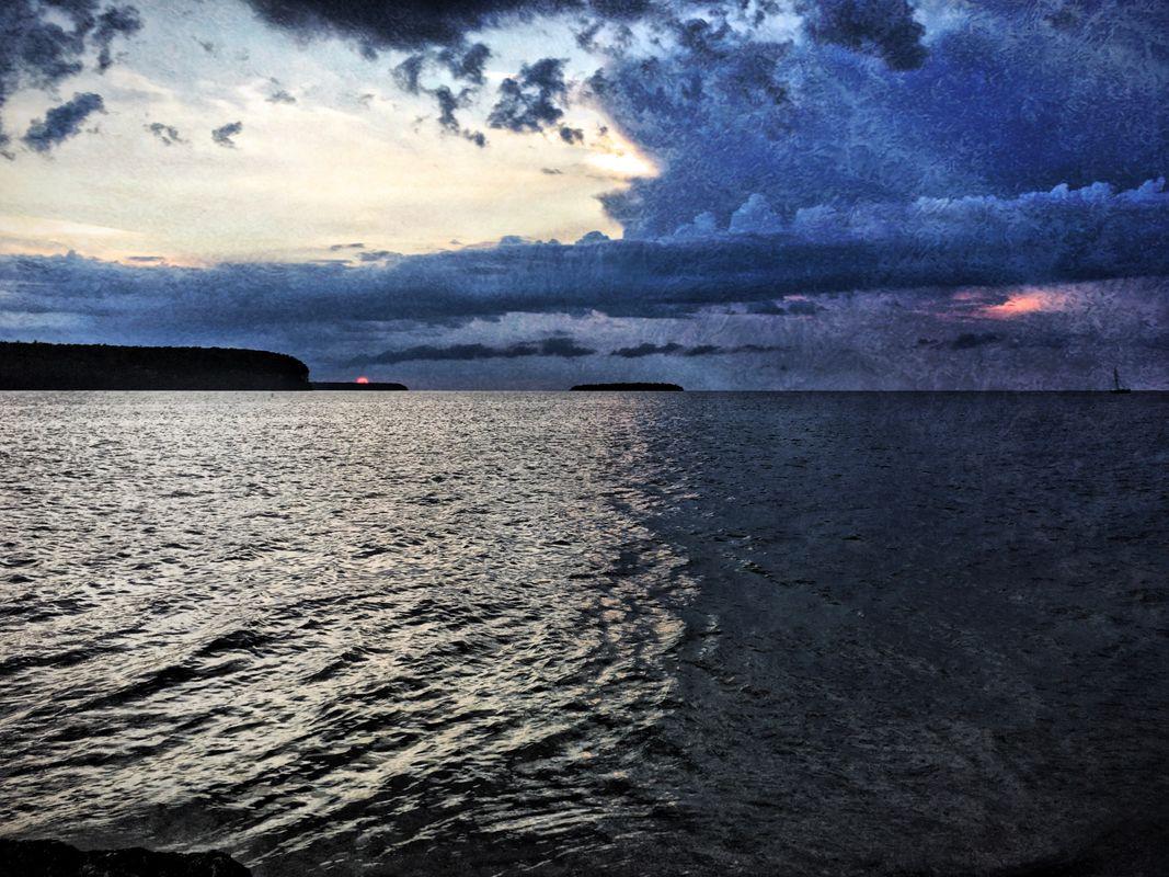 Door County Sunset (iPhone HDR)