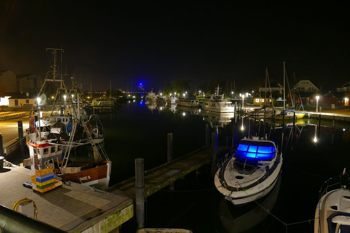 Niendorf Harbour at Night