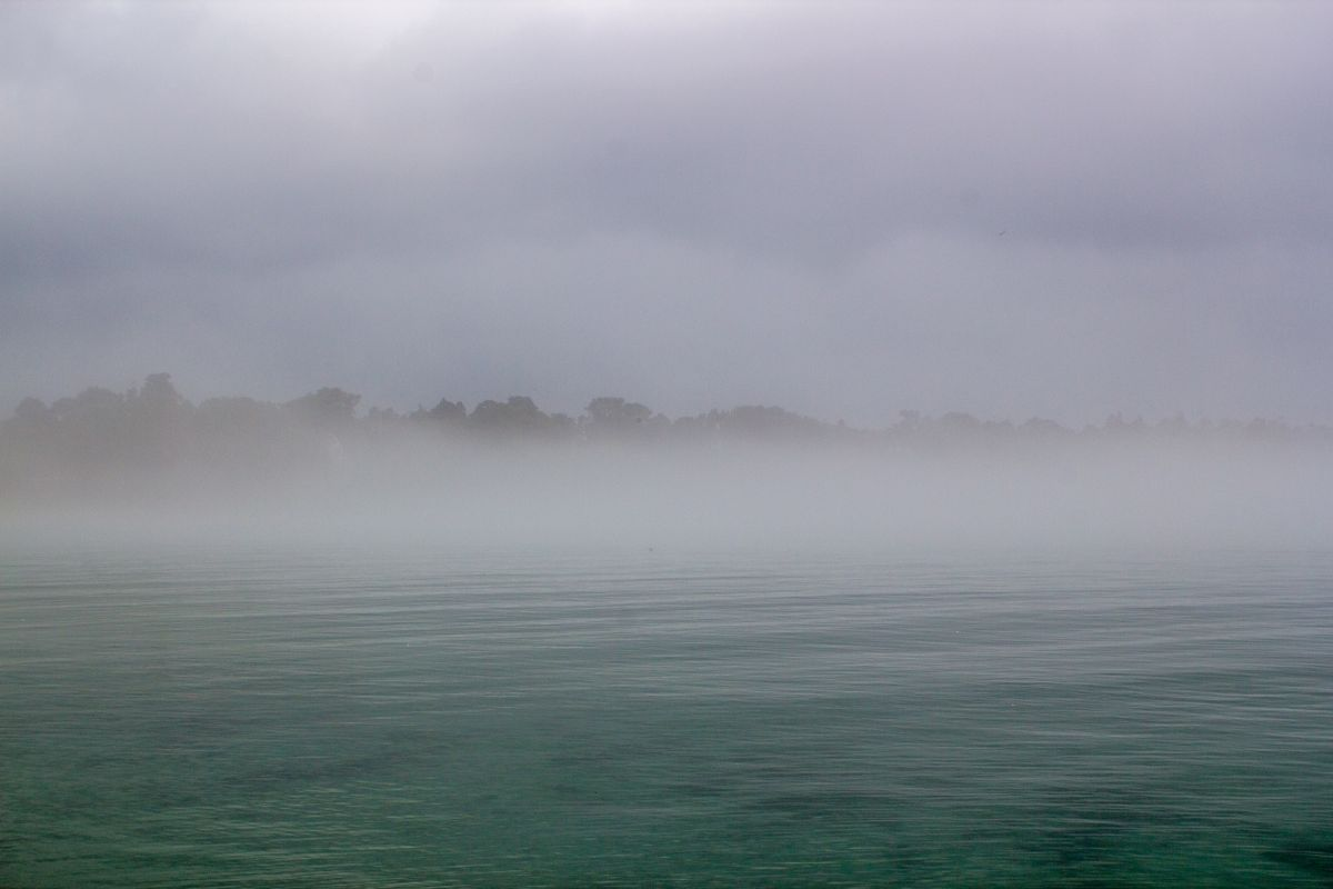 Foggy Morning on Lake Michigan
