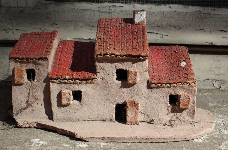 Little house on a window sill