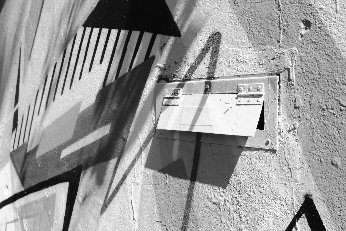 Mailbox in a wall