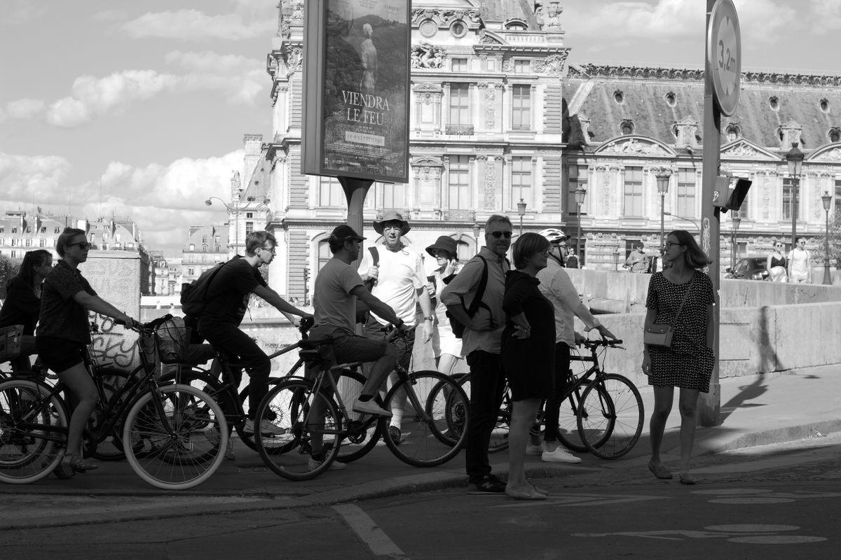 Un paquet de cyclistes