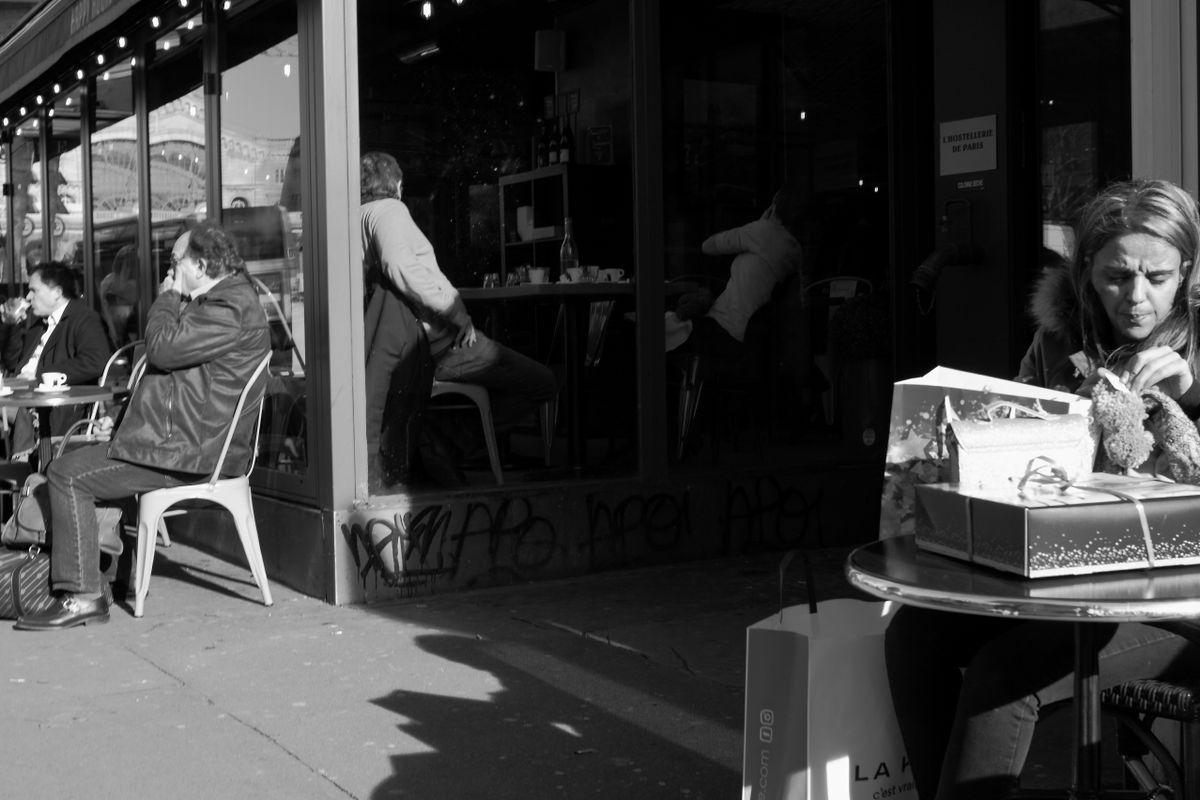 Wide entrance to a café