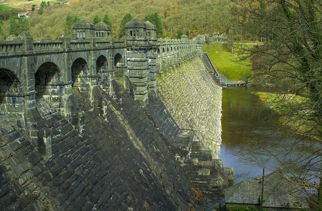 Lake Vyrnwy Dam, Powys, Wales