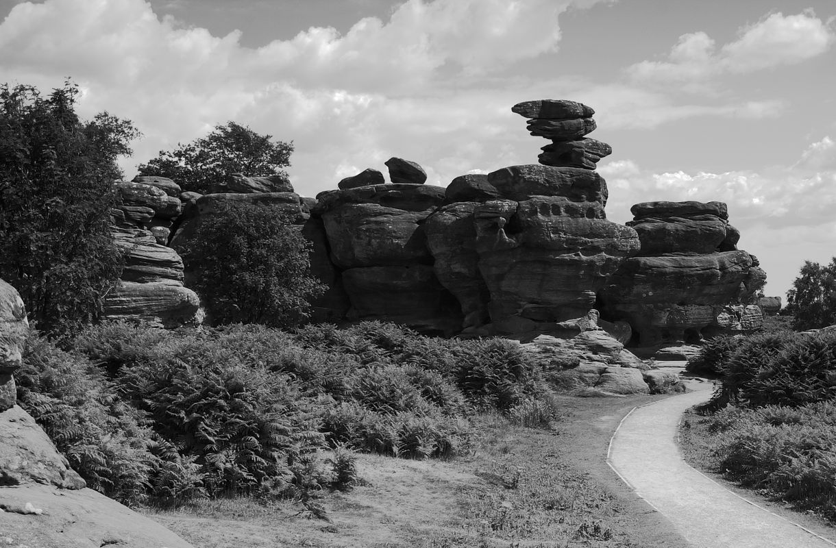 A Black and White View at Brimham Rocks, Pateley Bridge, North Yorkshire
