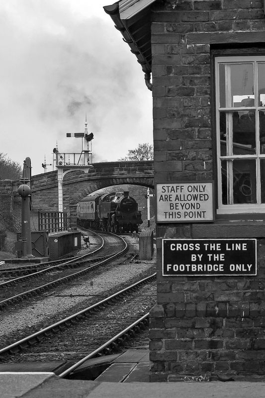 Steam Strain Pulling in to Goathland Station, North Yorkshire Moors Railway, Yorkshire