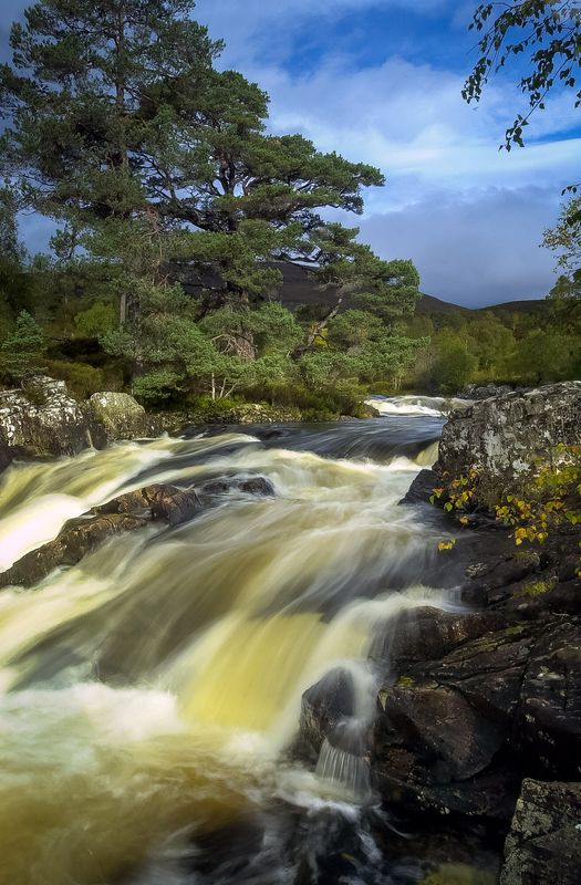 Waterfall on the River Affric, Glen Affric, Highlands, Scotland