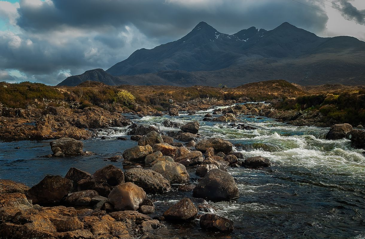 River Sligachan & Black Cuillin Mountains, Sligachan, Isle of Skye, Scotland