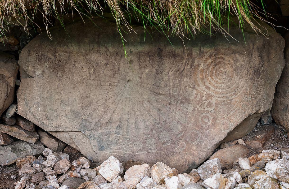 'The Sundial Stone', Knowth Megalithic Passage Tomb, Brú na Bóinne, Ireland