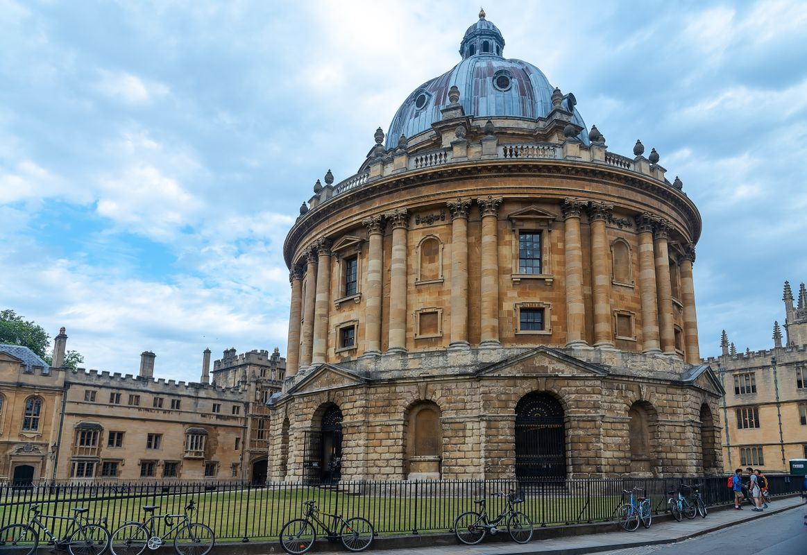 Bicycles in Front of Radcliffe Camera, Oxford, Oxfordshire