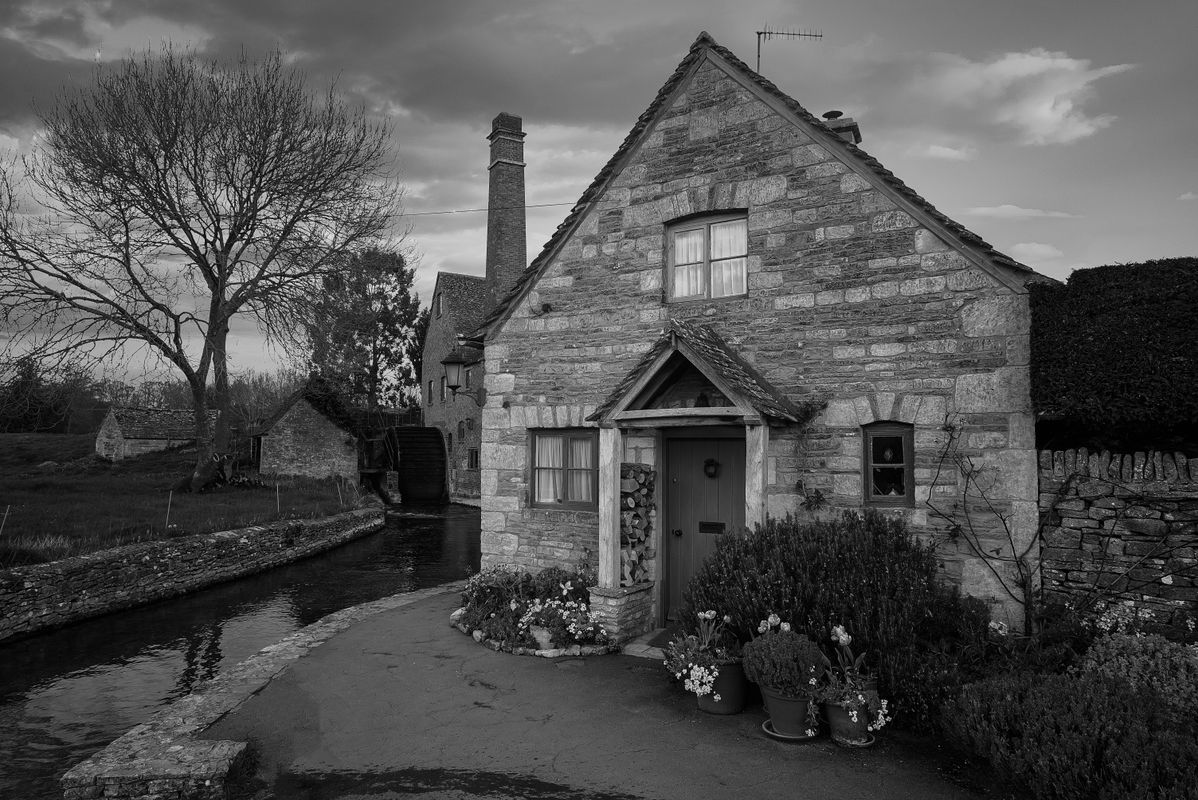 Cottage & Old Mill, Lower Slaughter, Gloucestershire, UK