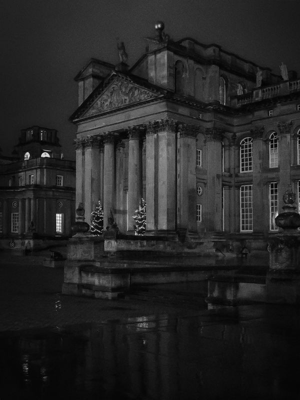 Nighttime Facade at Blenheim Palace, Woodstock, Oxfordshire