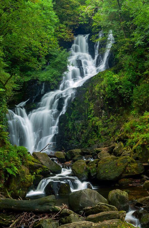 Torc Waterfall (Closer View), Killarney National Park, County Kerry, Ireland