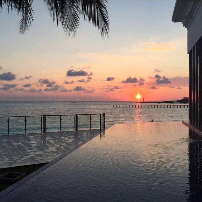 Sun set in Cancun