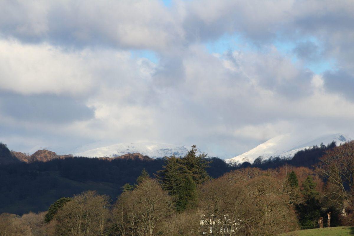 Cloudy Snow Peaks
