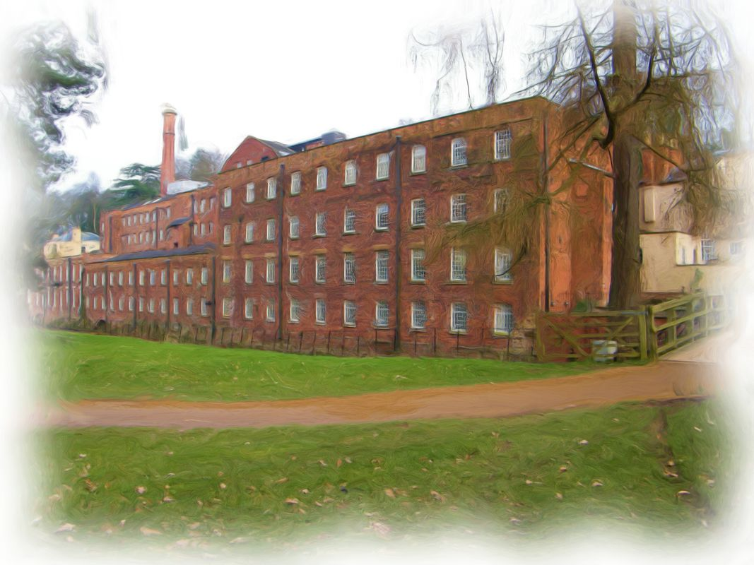 Quarry Bank Mill Oil Painting
