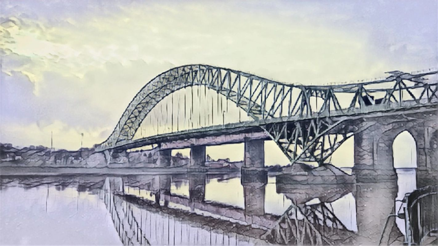 Silver Jubilee Bridge Drawing