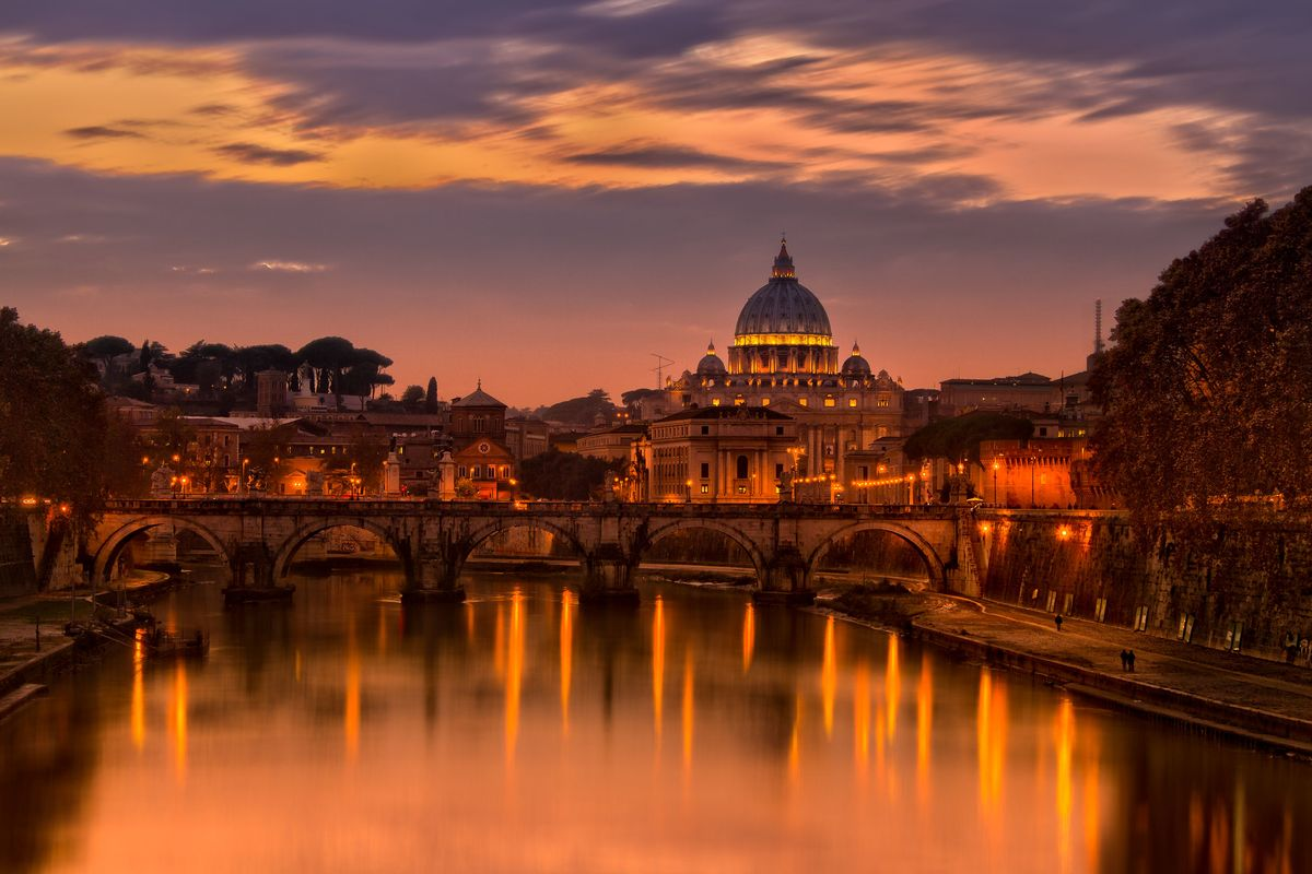 Sunset over the Vatican