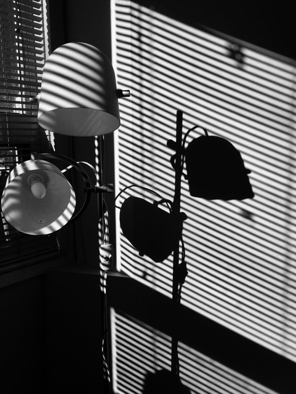 Simple Shadows Black and White Photography