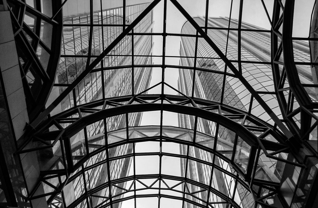 Downtown Calgary, Black and White Photography