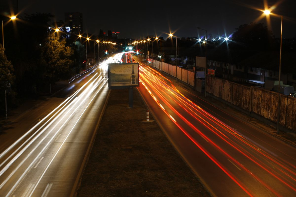 Night lights ot the bridge
