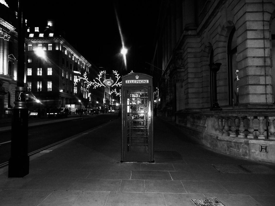 Telephone Box in London in England.