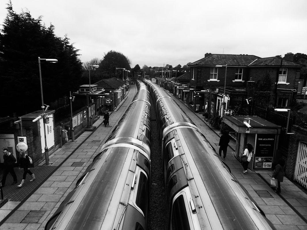 Underground Trains at Epping in Essex in England