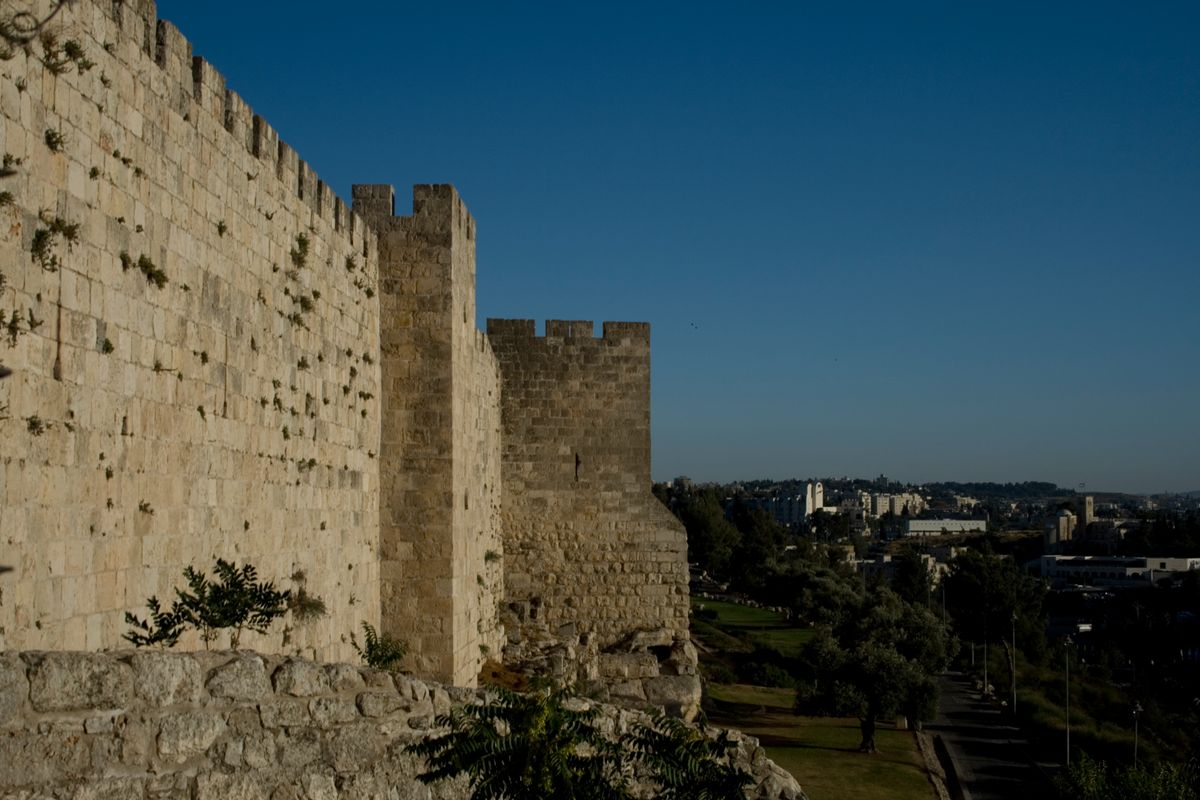 The walls of the Old City of Jerusalem, the Holy Land