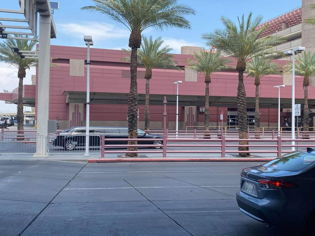 The streets of Las Vegas