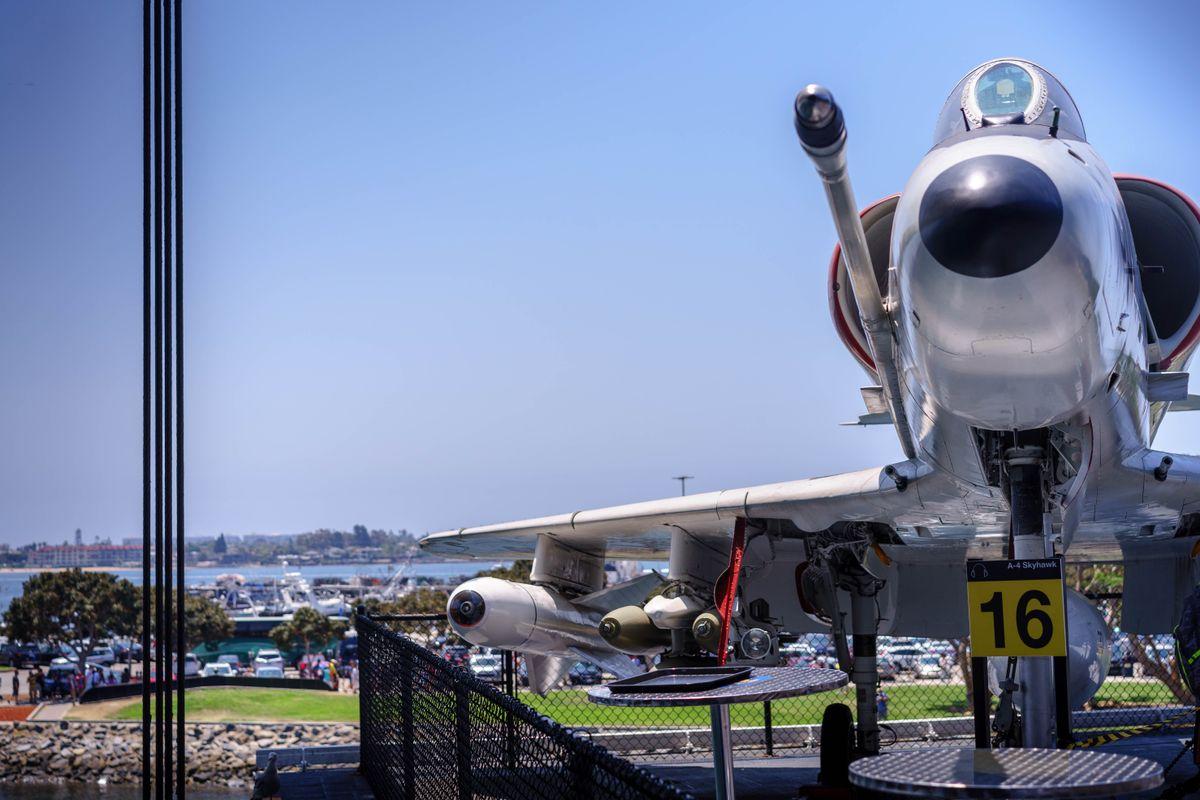 A4 Skyhawk on USS Midway Carrier