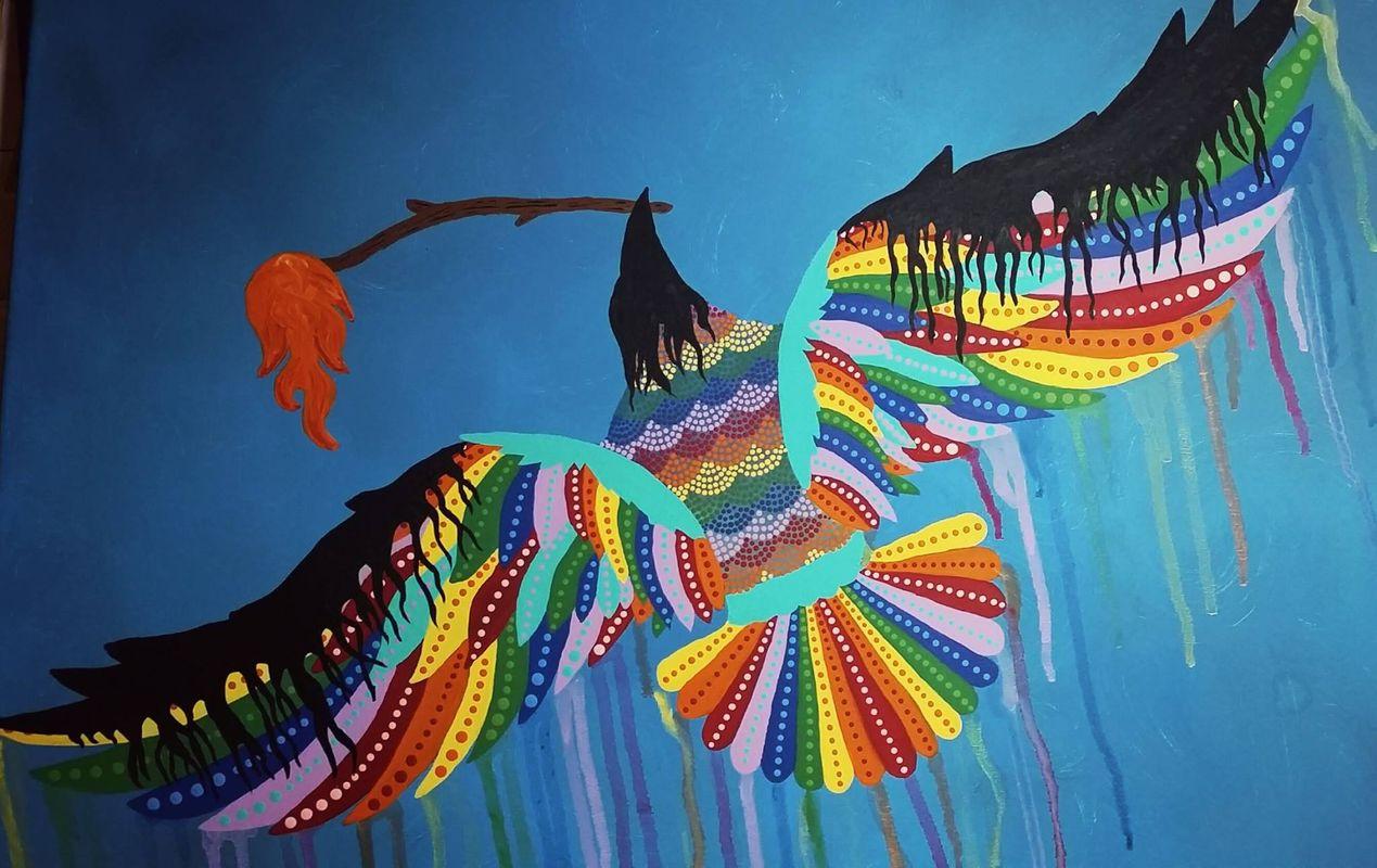 Rainbow Crow by Me.